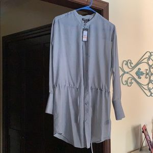 Beautiful sheer Kenneth Cole Gray top. New w/tag.